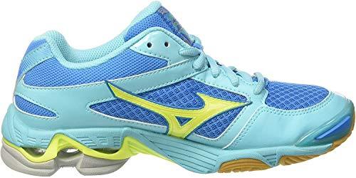 Mizuno Mizuno Damen Wave Bolt WOS Volleyballschuhe, Mehrfarbig (Divablue/safetyyellow/blueradiance), 37 EU