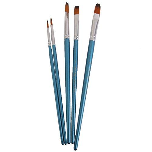 5PZ ASSORTITI Dimensione ARTISTA pittura Set di pennelli
