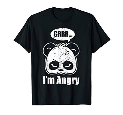 Cute Panda | Grrr... I'm Angry | Funny Panda Lovers T-Shirt