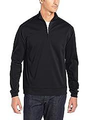 Half zip pullover with DryTec moisture wicking fabric C&B icon zipper pull