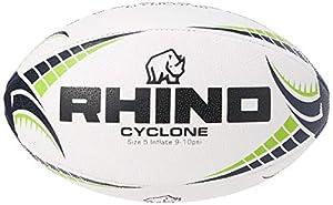 Rhino Cyclone Rugby Ball, White, Size 3 from Rhino