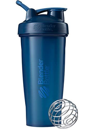 BlenderBottle Classic Loop Shaker mit BlenderBall, optimal geeignet als Eiweiß Shaker, Protein Shaker, Wasserflasche, Trinkflasche, BPA frei, skaliert bis 600 ml, 820 ml, navy blau