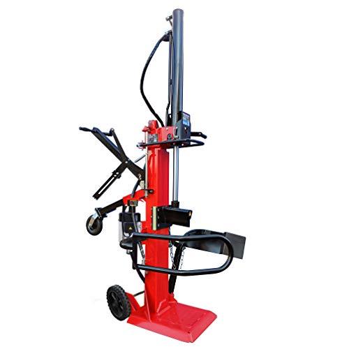 CROSSFER Holzspalter LS9T-230V / Hydraulikspalter 9 Tonnen Spaltkraft / 230V Motor 3 kW/Auto-Rücklauf mit stufenlosem Rücklaufstopp / 104 cm Spaltlänge/Meterspalter/Stammheber und Holzfangbügel