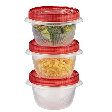 Rubbermaid TakeAlongs Twist & Seal Food Storage Containers, 2 Cup, 3 Count 1824173