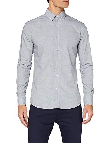 BOSS Herren Mabsoot_1 Shirt, Medium Grey (34), S EU