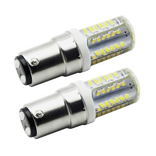 7117 BD15 4W Super Hell LED Glühbirne,40W Halogen-Equivalent SBC Kleine Bajonett LED-Birnen, 12V Nicht dimmbar Kaltes Weiß 6000K Für Nähmaschinen(2er Pack)