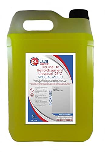 DLLUB - Liquide de refroidissement spécial moto -25°C - 5 litres