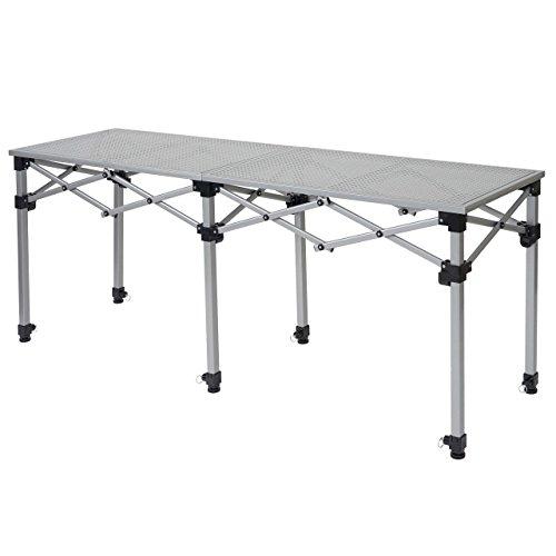 Mendler Multifunktionstisch HWC-A23, Tisch Klapptisch Bartisch Werktisch Falttisch, höhenverstellbar - 180cm
