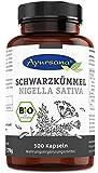Vegane Schwarzkümmel Kapseln (500 Stück) | BIO-Qualität | halal | aus der Apotheke | 1800 mg Schwarzkümmel je Tagesdosis
