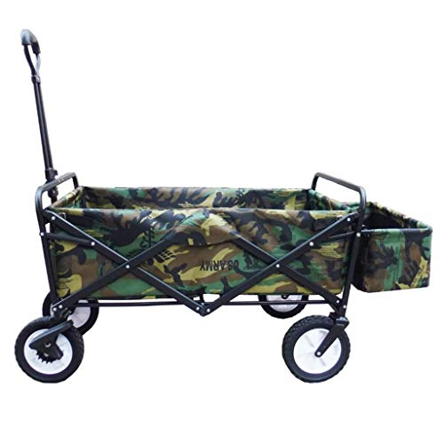 LXESWM Faltbarer Bollerwagen Faltwagen Handwagen Garten Wagen 4-Rad Trolley Folding - Faltbare Pull Wagon Bollerwagen-Camping Wagen Tragbare Garten Und DIY Wagen - 80KG Capacityy