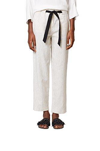 ESPRIT Collection Damen 048EO1B007 Hose, Weiß (Off White 110), 34