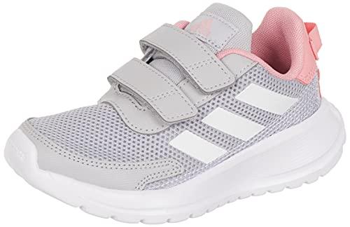 adidas Tensaur Run Road Running Shoe, Grey/Cloud White/Super Pop, 32 EU