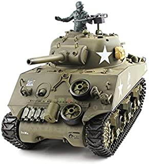 HengLong 1/16 Scale Radio Remote Control US M4A3 Sherman (105mm Howitzer) Tank Air Soft..