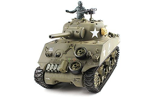 Product Image of the Heng Long 2.4Ghz TK6.0 1/16 Scale Radio Remote Control US M4A3 Sherman (105mm...