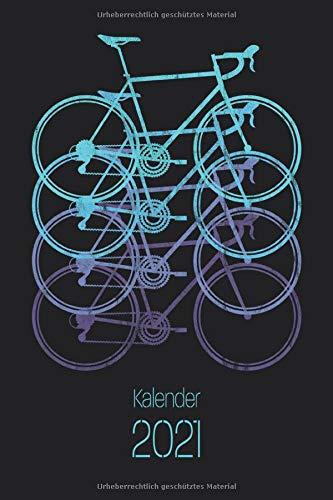 Kalender 2021: Rennrad Kalender 2021 Terminkalender, Wochenplaner, Wochenkalender, Organizer als kleines Fahrrad Geschenk für Radfahrer, Fahrradfahrer und Rennradfahrer