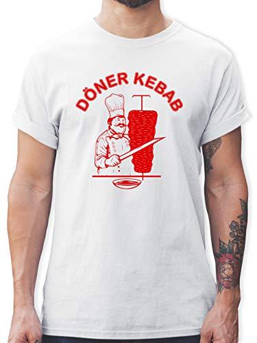 Statement - Original Döner Kebab Logo - XXL - Weiß - döner Kebab t Shirt+ - L190 - Tshirt Herren und Männer T-Shirts