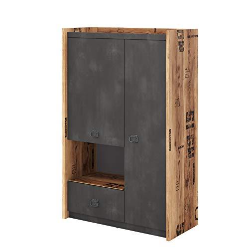Furniture24 Schrank Fargo FG04 Hochschrank Highboard Kommode mit 2 Türen und 1 Schublade