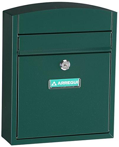 Arregui E5733 Buzon para exterior de acero modelo Compact color verde. Dimensiones (Altoxanchoxfondo): 285x240x95mm