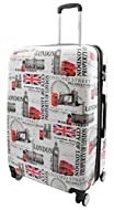 We are proud to present our fabulous London's famous iconic landmarks print luggage, these suitcases are manufactured with the highest standards and best quality strong and flexible polycarbonate material which allows you to pack more and gives a sup...
