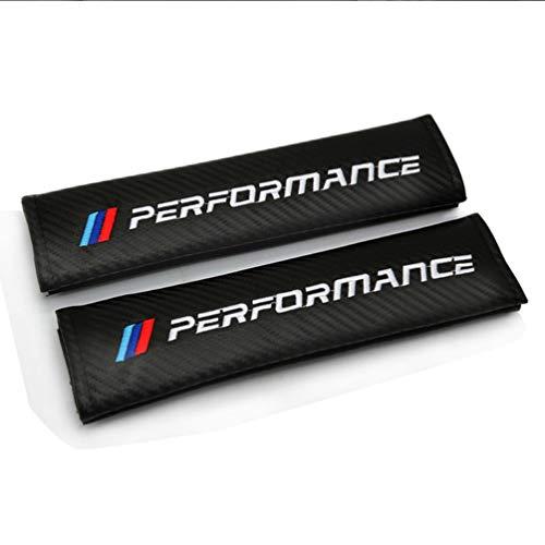 WFLOV 2 Piezas de Accesorios de Coche Cubierta de cinturón de Seguridad de Fibra de Carbono para BMW M E90 E91 E92 E93 M3 E60 E61 F10 F07 m5 m6 m7 x4 x5 x1 e30 e39 e46