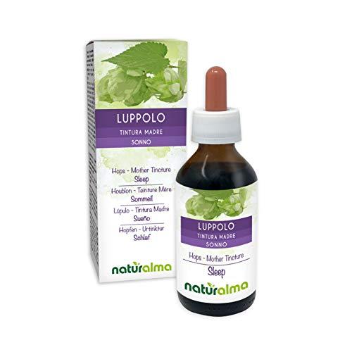 Lúpulo (Humulus lupulus) estróbilos (flores hembra) Tintura Madre sin alcohol Naturalma | Extracto líquido gotas 100 ml | Complemento alimenticio | Vegano