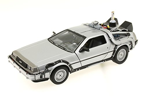 Unbekannt Welly - Maqueta del Delorean de Regreso al Futuro II (Escala: 1/24, Metal)