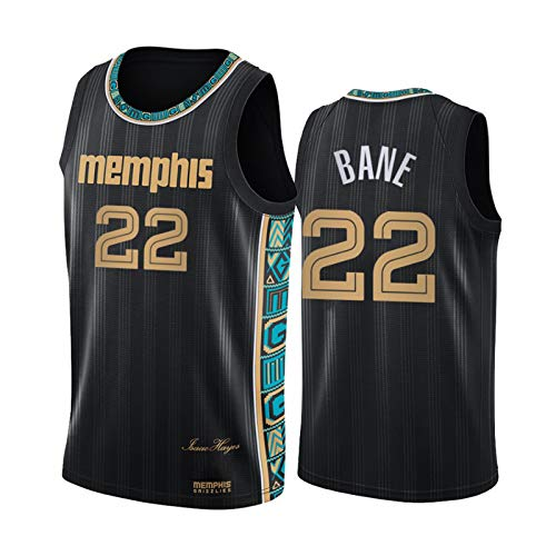 LXLX Jerseys de Baloncesto Grizzlies # 22 Bane, Unisex Cómodo Chaleco Deportivo de Baloncesto, Camiseta Deportiva Transpirable Casual, Fibra 100% poliéster, tamaño (S-XXL Vest-S