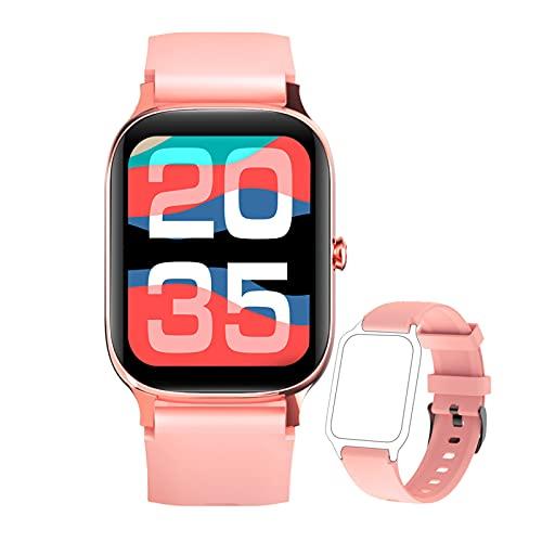 BNMY Smartwatch 1.69' Táctil Completa Reloj Inteligente Impermeable 5ATM para Hombre Mujer Pulsera Actividad Inteligente con Monitor De Sueño, Oxígeno De Sangre para, Pulsómetro,Rosado