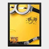 ハンギングペインティング - ミニオンズ 3 怪盗グルーのミニオン大脱走 7のポスター 黒フォトフレーム、ファッション絵画、壁飾り、家族壁画装飾 サイズ:33x24cm(額縁を送る)