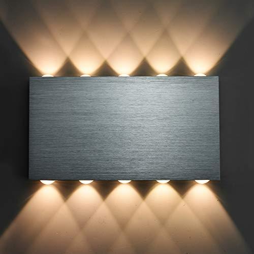 Louvra 30 W LED Wandleuchte Innen Up und Down Wandlampe Modern Wandbeleuchtung 10*Lichtquelle für Wohnzimmer Schlafzimmer Flur Treppenhaus Balkon usw.