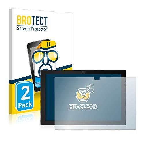 BROTECT Schutzfolie kompatibel mit Lenovo IdeaPad Duet 3i (im Querformat) (2 Stück) klare Bildschirmschutz-Folie