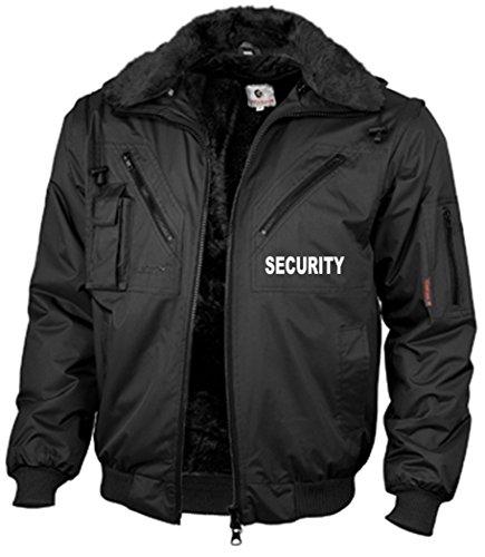 """R&K Dienstbekleidung 4-in-1-Dienstblouson""""FOUR SEASONS"""" schwarz, mit Aufdruck""""SECURITY"""", Ärmel abnehmbar, Futter austrennbar, Größe XL"""