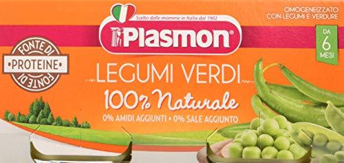 Plasmon Omogeneizzato di Verdure, Verdure e Legumi - 24 Vasetti da 80 gr