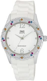 Q&Q Women's White Dial Silicone Band Watch - Q833J301Y
