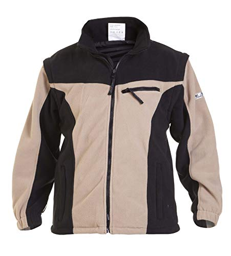 Hydrowear 04026028 F Clèves Polaire Veste, 100% polyester, grande taille, Kaki/noir