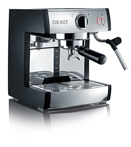 Graef ES702EU Siebträger-Espressomaschine pivalla, 1410 W, 16 Bar, schwarz-matt/edelstahl