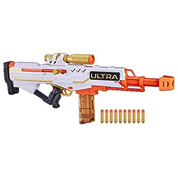 NERF Ultra Pharaoh Blaster with Premium Gold Accents 10-Dart Clip 10 Ultra Darts Bolt Action Compatible Only Ultra Darts