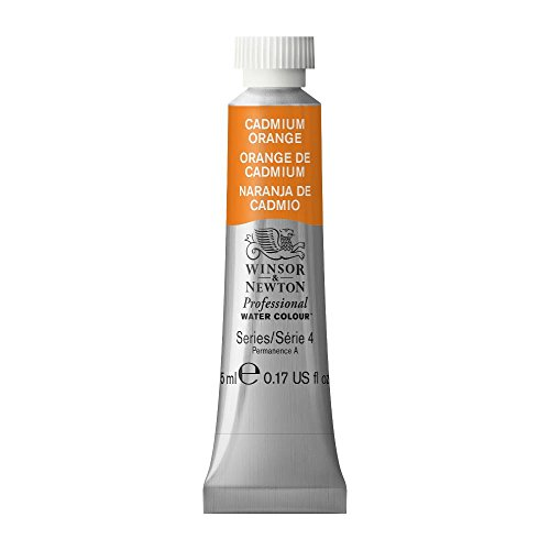 Winsor & Newton Professional Water Colour Paint, 5ml tube, Cadmium Orange