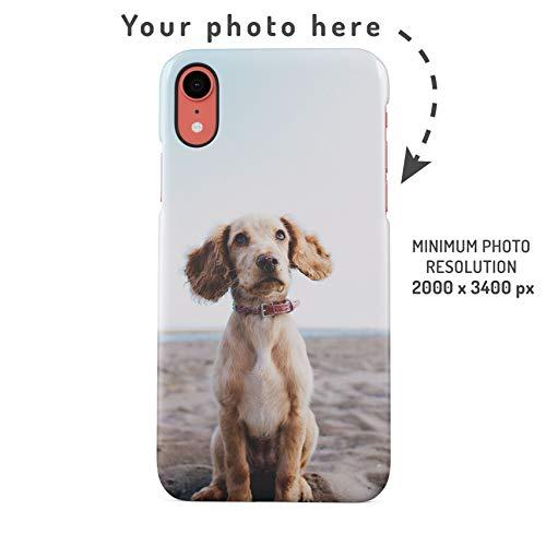 Custodia Cellulare con Foto Personalizzata, Crea la Tua Immagine, Crea la Tua Stampa, Personalized Customised Phone Case Custodia Protettiva in Plastica Rigida Cover per iPhone XR