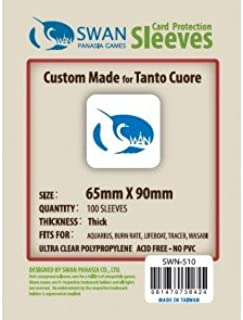 Swan Premium Card Sleeves (65x90mm) - 100 Pack, Thick Sleeves - Tanto Cuore