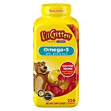 LIL CRITTERS Omega 3, EPA, DHA& ALA, 220 Gummies