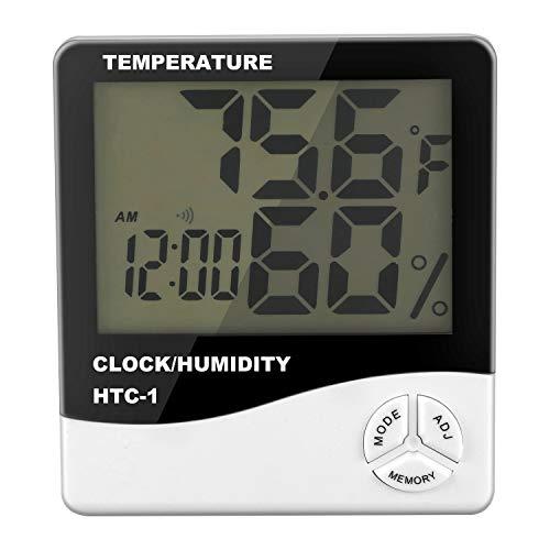 LilyJudy Digital LCD Interior Habitacion Exterior Temperatura Electronica Humedad Medidor Termometro Higrometro Estacion meteorologica Despertador