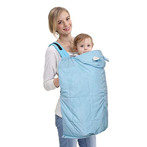 ZHXY Softshell Cover,Softshell Tragecover,Universal Bezug für Baby Carrier Tragetücher,Winterbezug Wetterschutz-Cover für Babytragen & Tragetücher Regenschutz,Winddicht und wasserdicht,Blau.