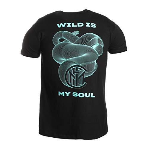 Inter T-Shirt Wild Is My Soul Limited Edition Camiseta, Unisex Adulto, Negro,...