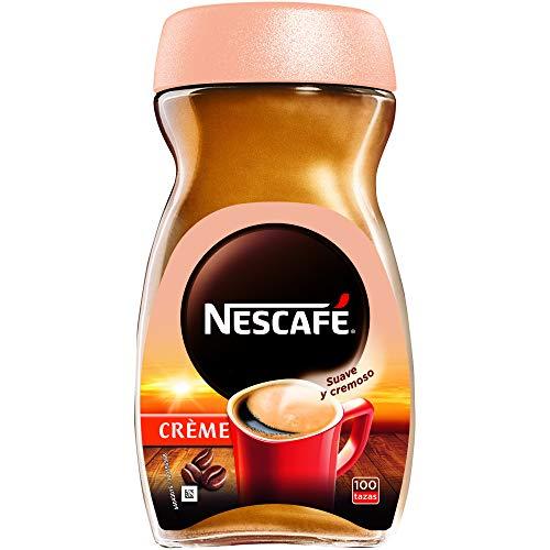 NESCAFÉ CRÈME aroma y sabor, café soluble con crema, frasco de vidrio, 200 g