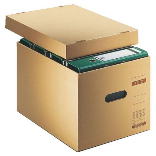 Leitz 60810000 Archiv-Schachtel, A4, mit Deckel, naturbraun