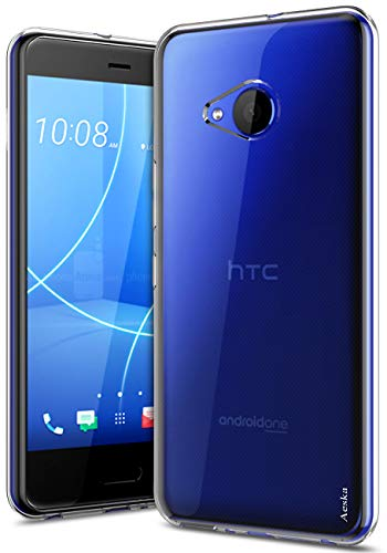 Aeska HTC U11 Life Case, Ultra [Slim Thin] Flexible TPU Gel Rubber Soft Skin Silicone Protective Case Cover for HTC U11 Life (Clear)