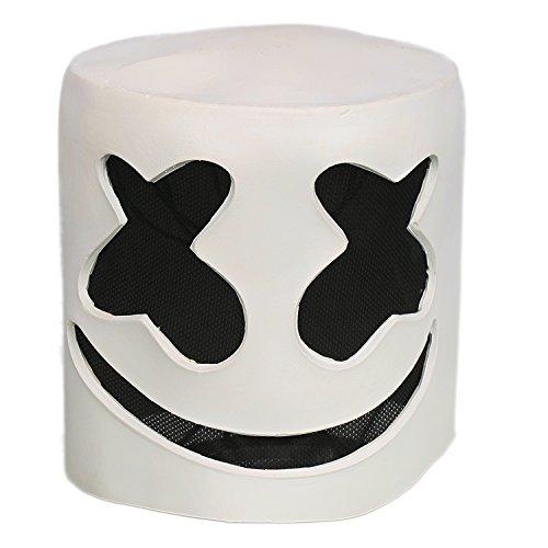 Xcoser Cosplay Kostüm Helm Voll Kopf Weiß Latex Maske Verrückte Kleid Replik für Erwachsene Halloween Zubehör Merchandise