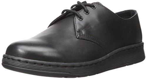 Dr. Martens Mens Cavendish 3-Eyelet Black Leather Shoes 42 EU