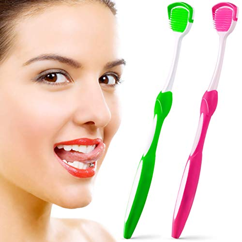 Tongue Scraper, Tongue Cleaner, Tongue Brushes Helps Fight Bad Breath, 2...